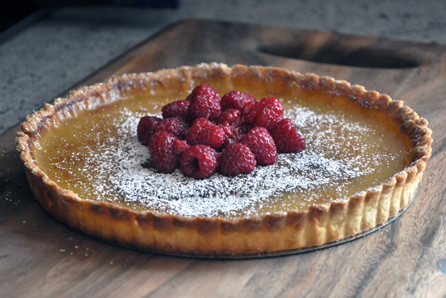 Post image for Lemon Tart with Raspberries
