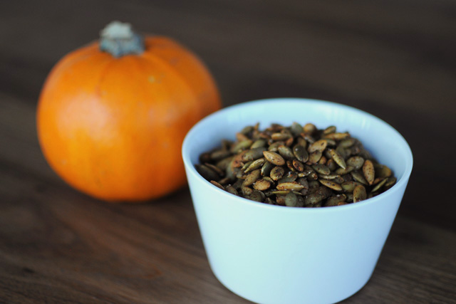Post image for Spicy Roasted Pumpkin Seeds