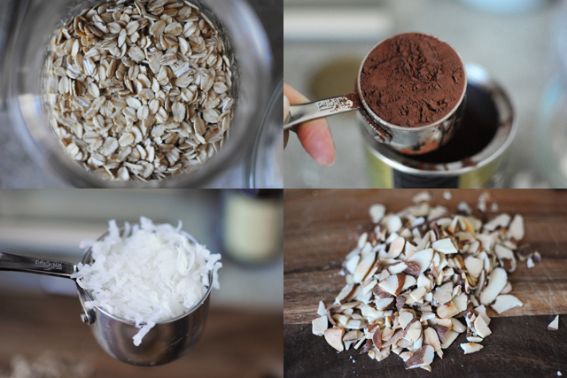 chocolate coconut almond cookie ingredients