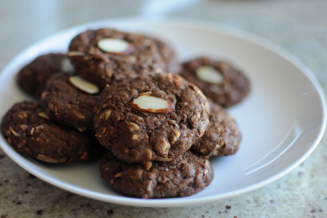 Post image for Chocolate Coconut Almond Cookies