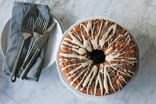 Post image for Yogurt Coffee Cake with Cream Cheese Glaze