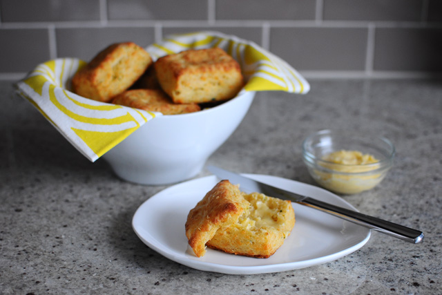 Post image for Cheddar and Chive Biscuits + Sea Salt and Maple Butter