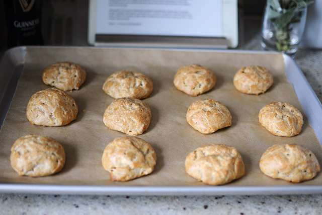 Post image for Gougères {with Guinness & Cheddar}